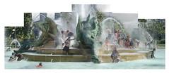 Swann Fountain collage (Tim Brown's Pictures) Tags: collage fountain alexanderscalder water kids people swimming splashing urban panorama alexanderstirlingcalder