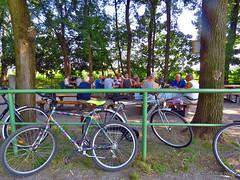Partita a carte al Fontanone di Castel Mella (scardeoni_fabrizio) Tags: castelmella fontanone carte pensionati alberi biciclette