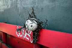 Folk Art Graces Hardware Store Parking Lot (jjldickinson) Tags: nikond3300 102d3300 nikon1855mmf3556gvriiafsdxnikkor promaster52mmdigitalhdprotectionfilter longbeach store hardware hardwarestore gsasupply truevaluehardware parkinglot sculpture head art magnetictape styrofoam