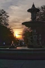 image (Luis Iturmendi) Tags: airelibre sun font sunshine ocaso luz light park retiro water source city madrid