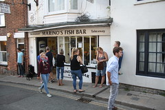 Chips (My photos live here) Tags: marinos fish and chips shop fast food queue people the mint rye east sussex england town canon eos 1000d
