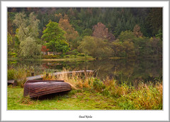 Autumn Morning At Loch Ard (flatfoot471) Tags: 2011 autumn boats jetty landscape lochard normal rural scotland stirlingshire trossachs unitedkingdom aberfole