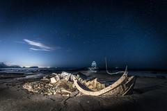 Shine Bright like a Diamond (Tony Emery Fotos) Tags: saltwick bay black nab whitby ship shipwreck abandoned crash beach sand water waves stars astro astrophotography night north east yorkshire