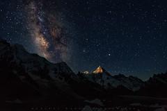 K1, aka Mashabrum (7821m) (Daniyal Naeem (Xpitude)) Tags: k1 masherbrum goro2 concordia baltaro glaciers k2trek k2basecamp daniyalnaeem skardu queen night stars landscapesofpakistan northernpakistan