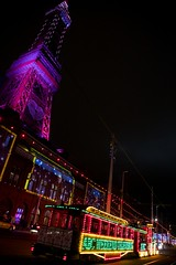 Blackpool (itmpa) Tags: blackpool lancashire seaside seasideresort resort blackpooltower towerbuildings listed gradei 18914 1894 1890s victorian tower steel illuminations night evening dark light lights tram tramway straightfromthecamera unedited nophotoshop england archhist itmpa tomparnell canon 6d canon6d