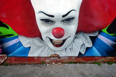 Evil Clown (Crausby) Tags: graf graffiti art artwork clown evil streetart blackppol red urbanart urban lancashire uk england