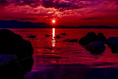 Shy looks, gentle touches, 1000 volts (yarin.asanth) Tags: yarinasanth gerdkozik calm love romance romantic pleasure warm red redlightdistrict sunset water constance lake