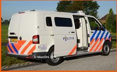 Dutch Police Volkswagen T5 GP FRL. (NikonDirk) Tags: politie police nikondirk netherlands nederland vw volkswagen transporter t5 gp touran friesland fryslan prison van holland dutch cops cop hulpverlening frysln frl cellenbus cellen bus foto 8sbb70 86szb2