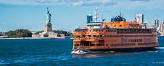 2016 - New York City - Staten Island Ferry + Statue (Ted's photos - For Me & You) Tags: 2016 cropped nikon nikond750 nikonfx nyc newyorkcity tedmcgrath tedsphotos vignetting statenislandferry statueofliberty ferry statueliberty islandspirit americaboatshipferry boatwaterhudson riverusaflagusa flag