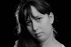 Aftershot 3 (R.D. Gallardo) Tags: canon e eos 600d raw retrato estudio saray mujer woman sexy seductora mirada penetrante bw blanco black bn negro white