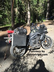 Triumph 800XC with coyotetrips.com panniers (coyotetrips) Tags: motorcyclepanniers motorcycle coyotetrips topcase luggage cases boxes
