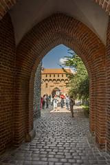 portal (stevefge) Tags: krakow poland barbican oldtown summer squares people reflectyourworld