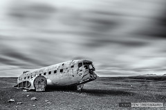 DC-3 (John Fÿn Photography) Tags: beach dc3 formatthitech iceland longexposure nordic republicoficeland sand sólheimasandur abandoned cloud crash fuselage wreck south is
