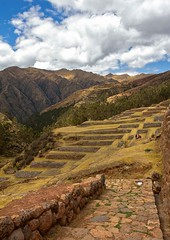 steps leading to the Inca Ruins (sussexscorpio) Tags: inca ruins chinchero peru southamerica mountains sky steps canon canon60d mountain landscape