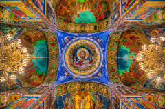 The Ceiling of the Church of the Savior on Spilled Blood (Lovell D'souza) Tags: alexanderii church churchofthesavioronspilledblood churchonspilledblood emperoralexanderii griboedovcanal hdr orthodoxchurch russia stpetersburg templeofthesavioronspilledblood travel tsar