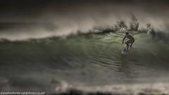 Tunnel vision (AndreDiener) Tags: surf water wave sea bigsurf surfer wind windswept seahorses ocean atlantic