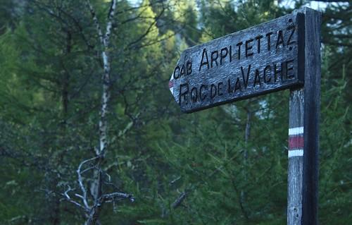 départ pour la cabane d'Arpitettaz