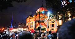 White Night (Raven SL) Tags: melbourne night station lights celebration