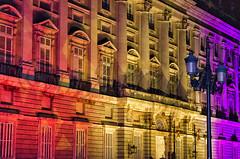 Color y color (mArregui) Tags: nikon marregui wwwarreguimeluscom palacio palacioreal madrid fiesta fiestanacional arquitectura color luz luces ciudad silueta