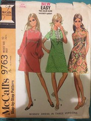 McCall's 9763 (kittee) Tags: mccalls9762 mccalls 9762 dress mod minidress collar longsleeves shortsleeves sleeveless size10 bust3212 1969 1960s kittee peterpancollar