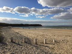 descending (D-j-L) Tags: scotland unitedkingdom gb findhorn beach moray morayfirth clouds sky sea iphone iphone6