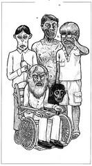 Old Monsters (Jrmy Huet) Tags: horror fantastic horreur sorciere zombie werewolf jrmy huet illustration dessin