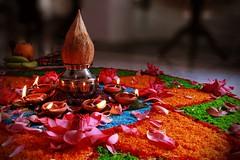 Offering to Godess Lakshmi (ajithaa) Tags: offerings lakshmipooja goddesslakshmi decorations lamp blessings goddess lakshmi