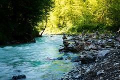 Stream (--Conrad-N--) Tags: bavaria water stream alps morning simple stone men