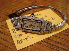 "PLATINUM, DIAMONDS AND SAPPHIRES LADIES WRISTWATCH. • <a style=""font-size:0.8em;"" href=""http://www.flickr.com/photos/51721355@N02/30171888112/"" target=""_blank"">View on Flickr</a>"