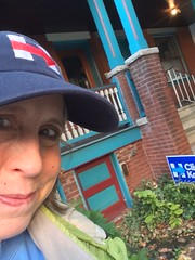 Good signs in spruce hill ucity west philly (karenchristine552) Tags: clintonkaine election2016 hillaryforpresident hillaryrodhamclinton imwithher pennsylvania philadelphia universitycity westphiladelphia