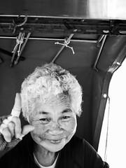 P1120679 (xihuchris) Tags: blackandwhite poeple portrait monochrome lumix mu43 g6 olympus 25mm south korea busan street