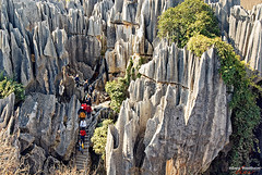 CHNhw024 (Henry Westheim Photography) Tags: shilin yunnan china stoneforest kunming province karst aerial view people nature landmark travel destination outdoors