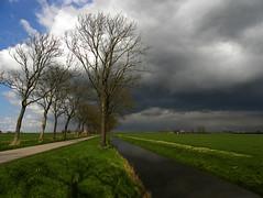 Sky over de Beemster (Ger Veuger) Tags: landschap landscape noordholland noordhollandslandschap dutchlandscape debeemster plder wolken clouds weer weather bomen trees sloot ditchb werelderfgoed worldheritage