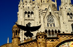 duch z Tibidabo // spirit of Tibidabo // espiritu de Tibidabo // esperit de Tibidabo (stempel*) Tags: barcelona katalonia catalona kataluna espana pentax k30 50mm tibidabo duch spirit gob holy pigeon dove black bird church