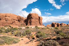 Arches National Park - Moab, Utah (gez woods) Tags: arch view national park arches moab utah sandstone redrock monoliths blue sky