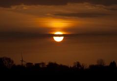 Sunset 1st May 2013 (mark_fr) Tags: york bridge sunset sea sky sun set sunrise volcano maple view market yorkshire hill north estuary vale east dust rise volcanic mere beverley humber hornsea weighton beeford lissett molescroft