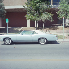 caddy.jpg (Rancho Labs) Tags: blue arizona tucson cadillac eldorado fujireala100 yashicamat124 2013