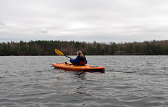 Alone on the lake (SamSpade...) Tags: lake me for kayak alone looking loons 527 choppy 0013apr