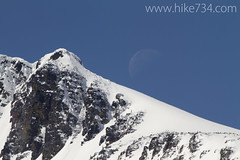 "Moon near Swiftcurrent Pass • <a style=""font-size:0.8em;"" href=""http://www.flickr.com/photos/63501323@N07/8711999459/"" target=""_blank"">View on Flickr</a>"