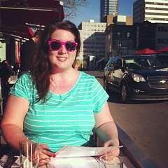 Heureuse  la Brasserie T! Avant Bourdain! #mtlmoments (All About Eve) Tags: eve woman sun me smile smiling square happy soleil spring sunny squareformat earlybird ensoleill iphoneography instagramapp uploaded:by=instagram