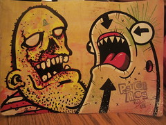 late night collabs (andres musta) Tags: sticker stickerart collab postal psyco dhl zas
