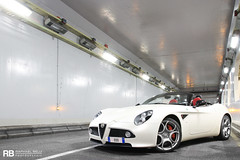 Alfa Romeo 8C Competizione Spider (Raphal Belly) Tags: white paris car de french photography eos hotel spider photo shoot riviera photographie photoshoot c 8 casino montecarlo monaco mc belly exotic 7d passion alfa romeo shooting bianca blanche raphael bianco blanc rb cylinders supercar spotting supercars raphal sance 8c principality competizione