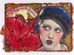no flattery (eggstudio) Tags: art collage altered paper alteredart greer eggstudio