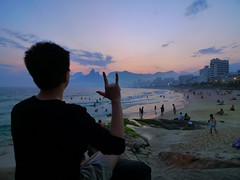 (Yurui.Liu) Tags: travel sunset brazil riodejaneiro ipanema