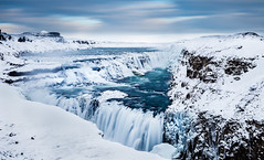 The Golden Waterfall - Gullfoss, southern Iceland (Pll Gujnsson) Tags: winter flow frozen iceland magical gullfoss ndfilter klaki frosi fli bigstopper leebigstopper hvtt frosi