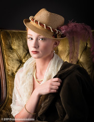 Sixteenth Century Glamour (andy_57) Tags: portrait beauty hat painting glamour lace feather pearls variation oldmaster d800 theattic titian victoriascott 105mmf2dc