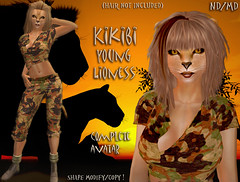 Lioness Kikibi - Avatar (Alea Lamont) Tags: animal cat african avatar tail lion ears whiskers neko lioness afrikan ndmd
