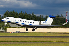 N886WT (sabian404) Tags: cn plane private portland airplane airport qualcomm aviation g6 hillsboro gulfstream hio bizjet khio gvi 6017 g650 glf6 n886wt