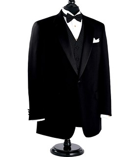 Black Notch Lapel Tuxedo Jacket Sizes 4852