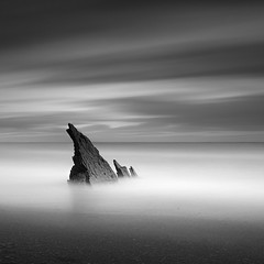 Fins (Rohan Reilly Photography) Tags: longexposure ireland blackandwhite bw blanco canon square rocks fineart negro 110 stack atlantic nd seastack rohanreilly